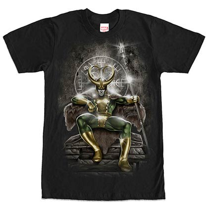 Avengers Loki Black Mens T-Shirt