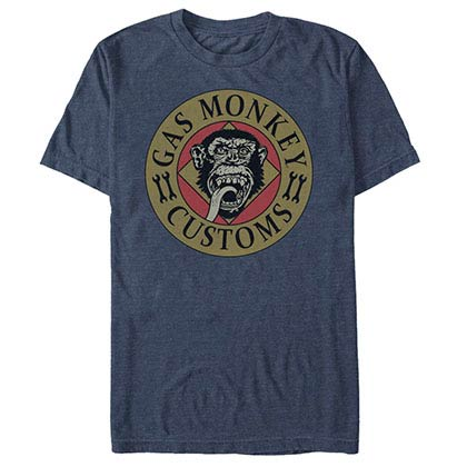 Gas Monkey Garage Wrenched Lick Blue T-Shirt