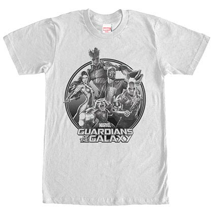 Guardians Of The Galaxy Shade Galaxy White Mens T-Shirt
