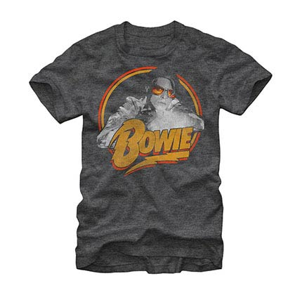 David Bowie Spotlight Gray T-Shirt
