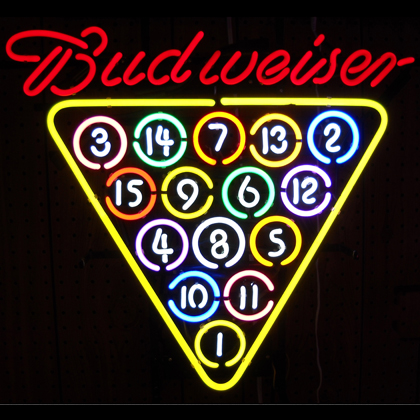 Budweiser Pool Balls Neon Sign