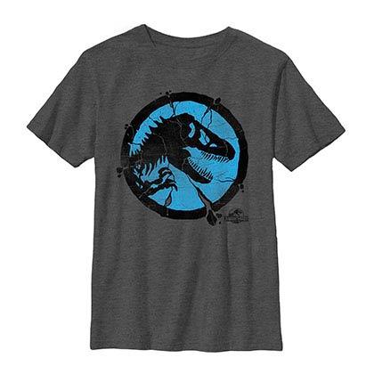 Jurassic World Crackpot Gray Youth T-Shirt