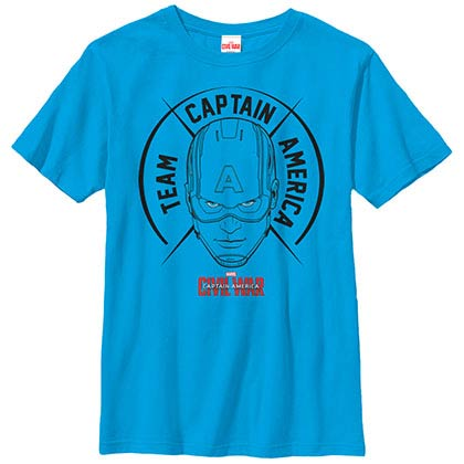 Avengers Big A Blue Youth T-Shirt