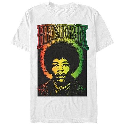 Jimi Hendrix Rastafari Hendrix White T-Shirt