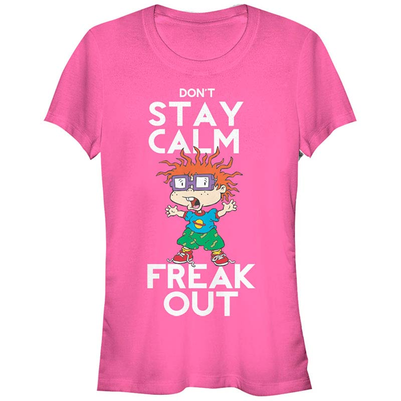 Rugrats Nickelodeon Freak Out Pink T-Shirt