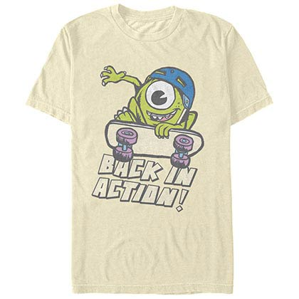 Disney Pixar Monsters Inc University Back In Action Beige T-Shirt