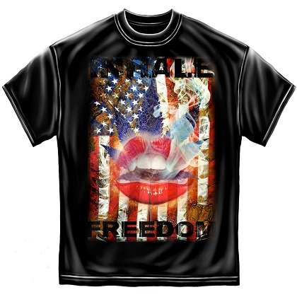 Inhale Freedom Patriotic Tshirt