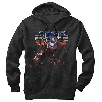 Star Wars Episode 7 Leading Black Lightweight Hoodie