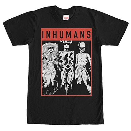 Marvel Teams Tri Inhuman Black Mens T-Shirt