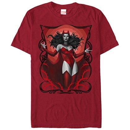 Marvel Teams Scarlet Red Red Mens T-Shirt