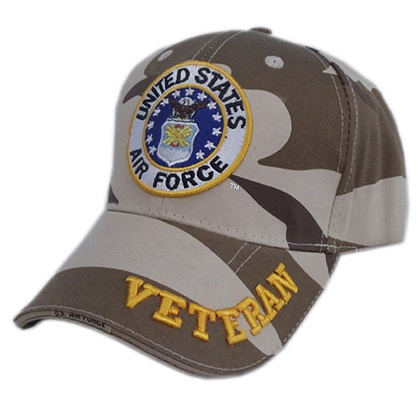 Patriotic United States Air Force Veteran Hat