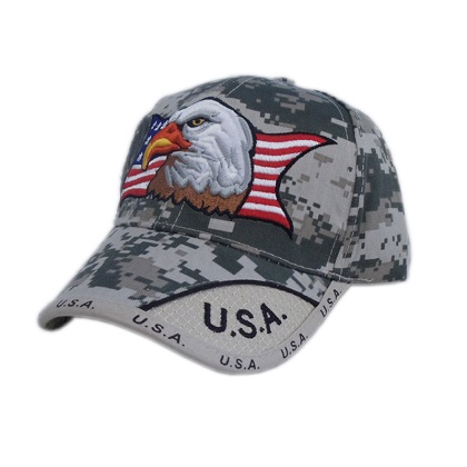 Patriotic Eagle American Flag Digital Camo Hat