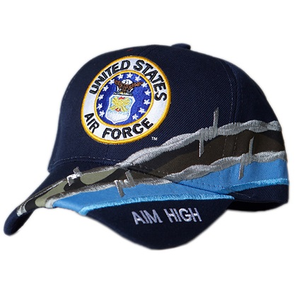 Patriotic United States Air Force Aim High Hat