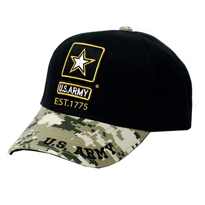 Patriotic US Army Camo Brim Hat