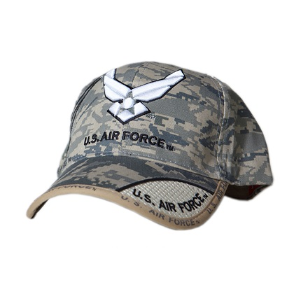 Patriotic Air Force Logo Digital Camo Hat