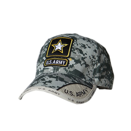 Patriotic US Army Star Camo Hat