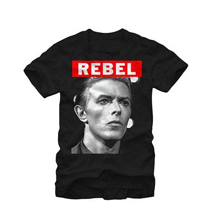 David Bowie Big Rebel Black T-Shirt