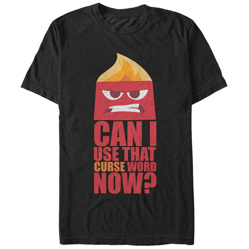 Disney Pixar Inside Out Swear Word Black T-Shirt