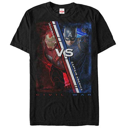 Captain America: Civil War Battle Ready Black Mens T-Shirt