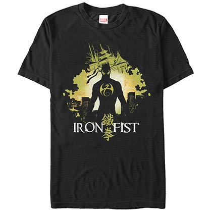 Marvel Teams Iron Fist Blob Black Mens T-Shirt