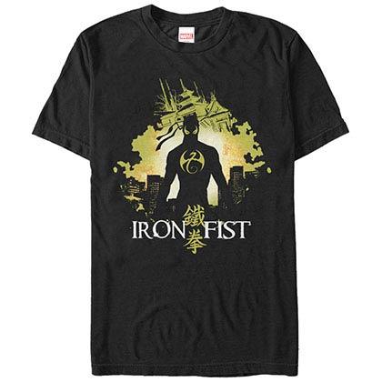 Marvel Teams Iron Fist Blob Black Mens T-Shirt