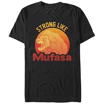 Disney Lion King Strong Mufasa Black T-Shirt