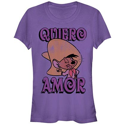 Looney Tunes D Quiero Amor Purple T-Shirt