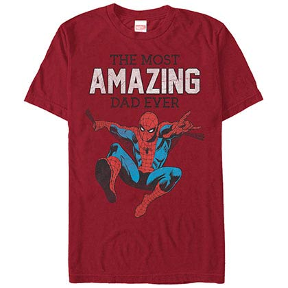 Spiderman Amazing Dad Red Mens T-Shirt