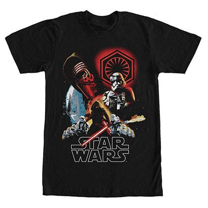Star Wars Episode 7 Dire Threats Black T-Shirt
