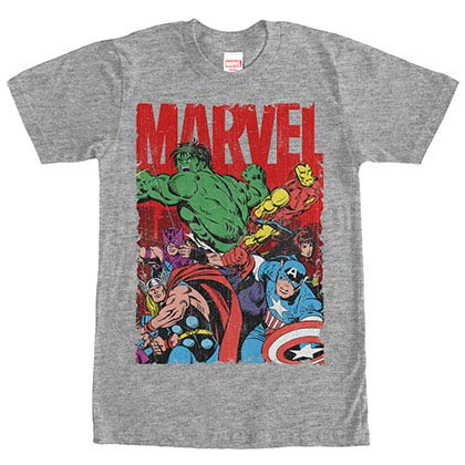 Avengers Team Work Gray Mens T-Shirt