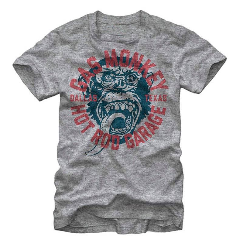 Gas Monkey Garage Monkey Business Gray T-Shirt