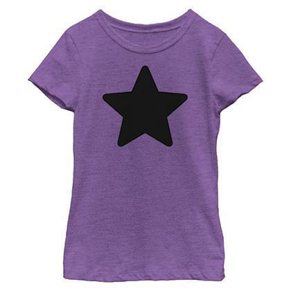Steven Universe Amethyst Star Purple Youth Girls T-Shirt