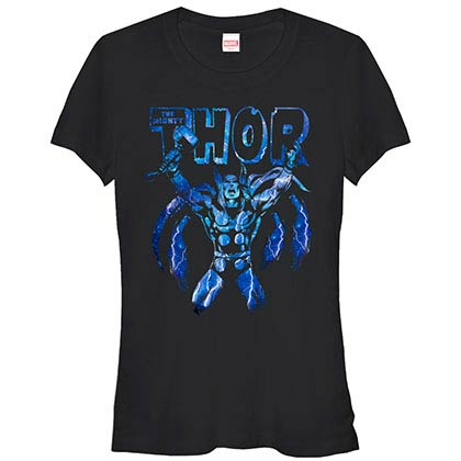 Thor Electrifying Black Juniors T-Shirt
