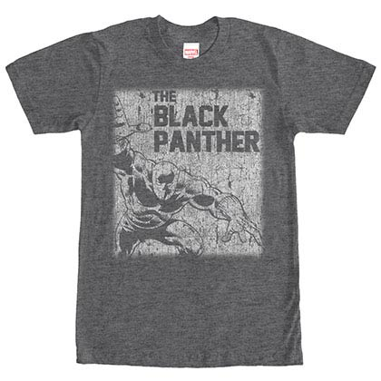 Black Panther Chalk Gray Mens T-Shirt