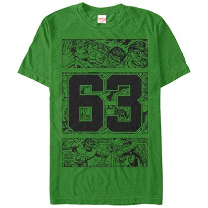 Incredible Hulk Hulk Collegiate Green Mens T-Shirt