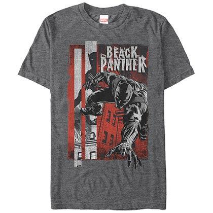 Black Panther Panther Night Gray Mens T-Shirt