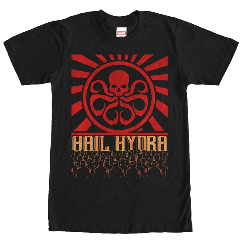 Avengers Hail Hydra Black Mens T-Shirt
