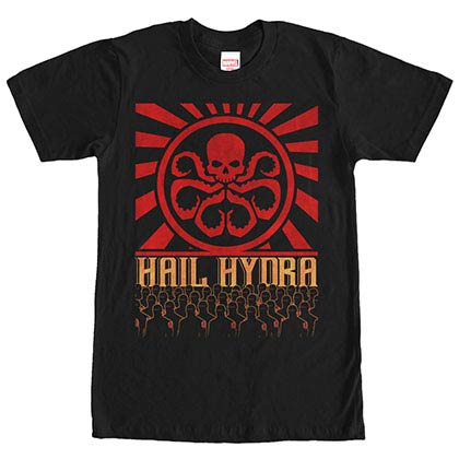 Avengers Hail Hydra Black Mens T-Shirt