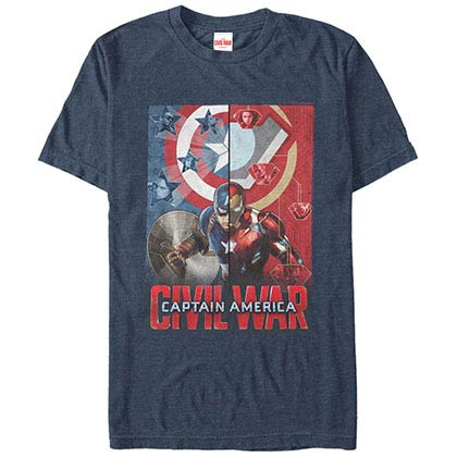 Captain America: Civil War Choose A Side Blue Mens T-Shirt