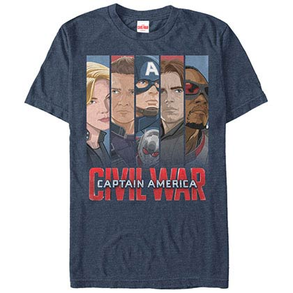 Captain America: Civil War Team Cap Blue Mens T-Shirt