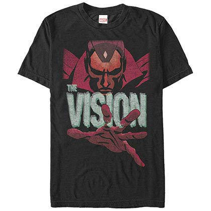 Marvel Teams Vision Black Mens T-Shirt