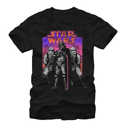 Star Wars Episode 7 Trooper Throwback Black T-Shirt