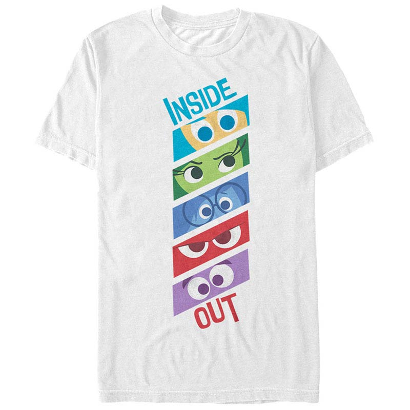 Disney Pixar Inside Out Emotion Eyes White T-Shirt