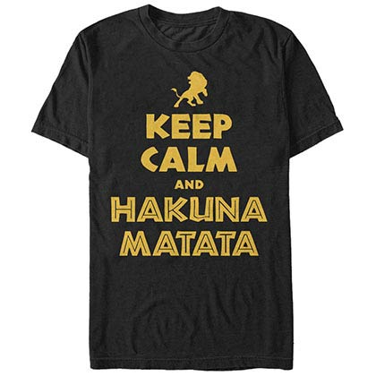 Disney Lion King Keep Calm Simba Black T-Shirt