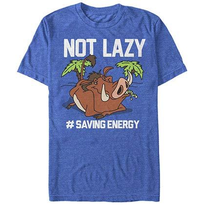 Disney Lion King Not Lazy Blue T-Shirt