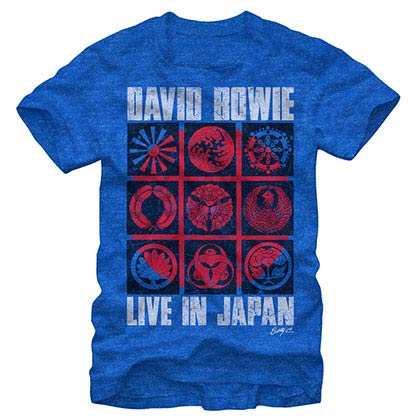 David Bowie Japan Icon Blue T-Shirt