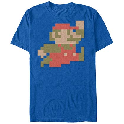 Nintendo Big Little M Blue T-Shirt