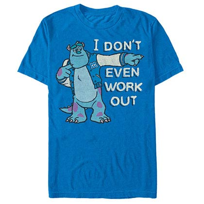 Disney Pixar Monsters Inc University Hardcore Blue T-Shirt