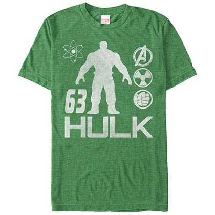 Incredible Hulk Hulk MotoStyle Green Mens T-Shirt