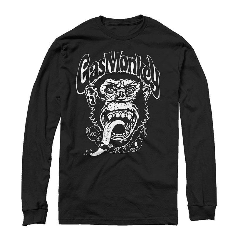 Gas Monkey Garage Monkee Black Long Sleeve T-Shirt